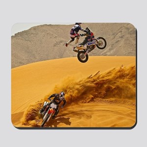 Motocross Riders Riding Sand Dunes Mousepad
