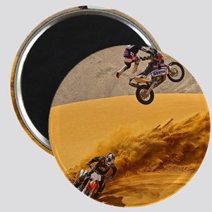 Motocross Riders Riding Sand Dunes Magnets
