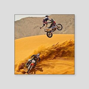 Motocross Riders Riding Sand Dunes Sticker