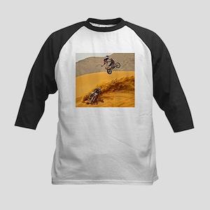 Motocross Riders Riding Sand Dunes Baseball Jersey