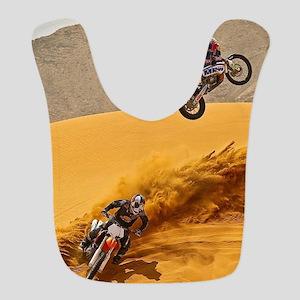 Motocross Riders Riding Sand Dunes Bib