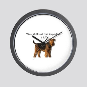 Airedale Doesn't Respect your Stuff Wall Clock