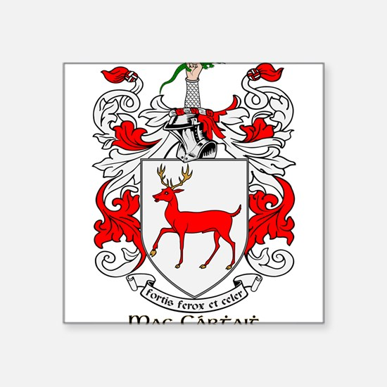 "Cute Mccarthy coat of arms Square Sticker 3"" x 3"""