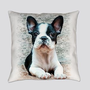 french bulldog Everyday Pillow