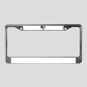 American Heart License Plate Frame