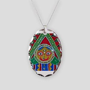 krishna Necklace Oval Charm