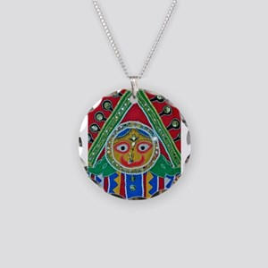 krishna Necklace Circle Charm