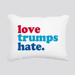 love trumps hate Rectangular Canvas Pillow