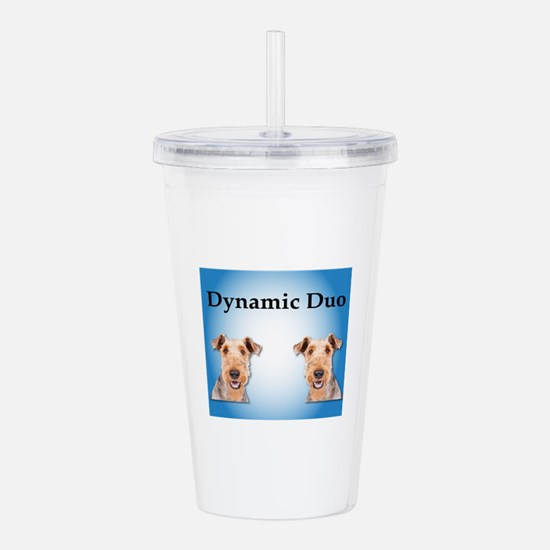 Airedale Dynamic Duo Acrylic Double-wall Tumbler