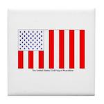 US Civil Peacetime Flag Tile Coaster
