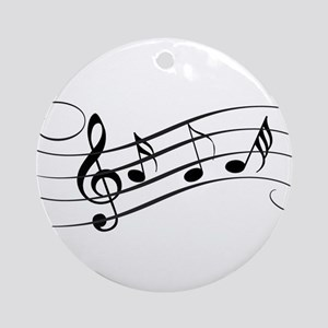 Musical Notes Round Ornament