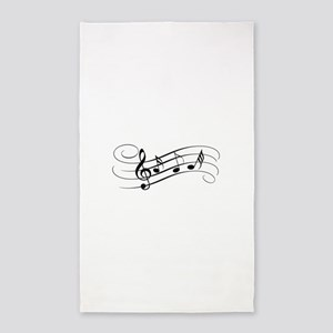 Musical Notes Area Rug