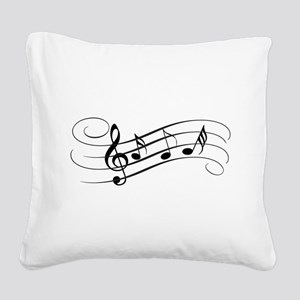 Musical Notes Square Canvas Pillow