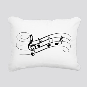 Musical Notes Rectangular Canvas Pillow