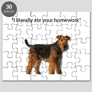 I literally Ate all your homework Airedale Puzzle