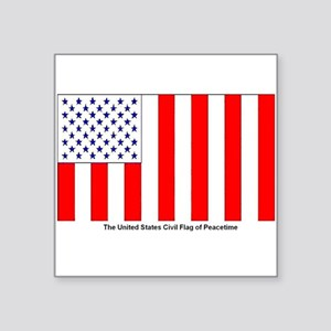 Us Civil Peacetime Flag Sticker