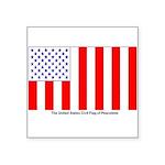 Us Civil Peacetime Flag Sticker