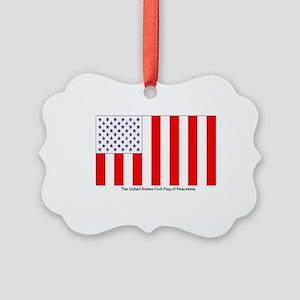 US Civil Peacetime Flag Picture Ornament