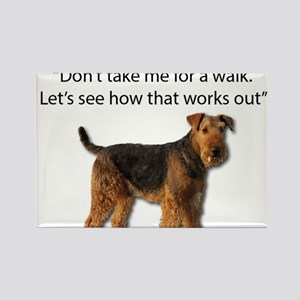 Airedale Terrier Getting Ready for Payback Magnets