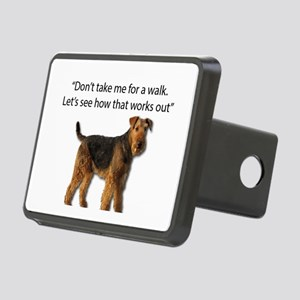 Airedale Terrier Getting R Rectangular Hitch Cover