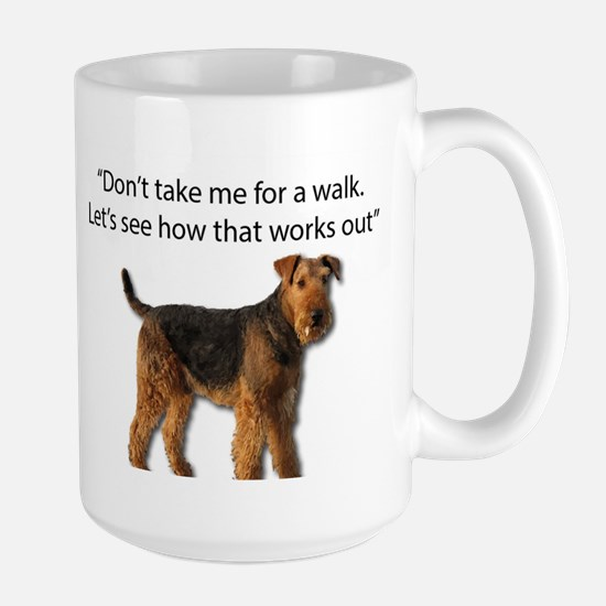 Airedale Terrier Getting Ready for Payback Mugs