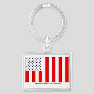 US Civil Peacetime Flag Keychains