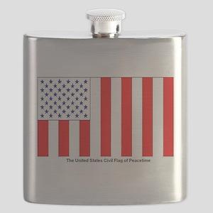 US Civil Peacetime Flag Flask