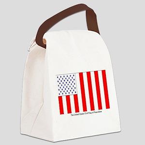 US Civil Peacetime Flag Canvas Lunch Bag
