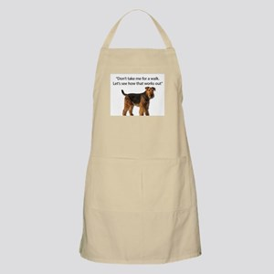 Airedale Terrier Getting Ready for Payback Apron