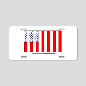 Us Civil Peacetime Flag Aluminum License Plate
