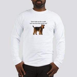 Airedale Terrier Getting Ready Long Sleeve T-Shirt