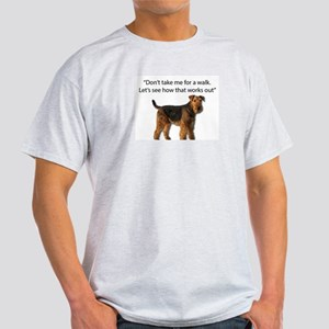 Airedale Terrier Getting Ready for Payback T-Shirt