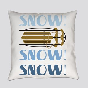 Snow Sled Everyday Pillow