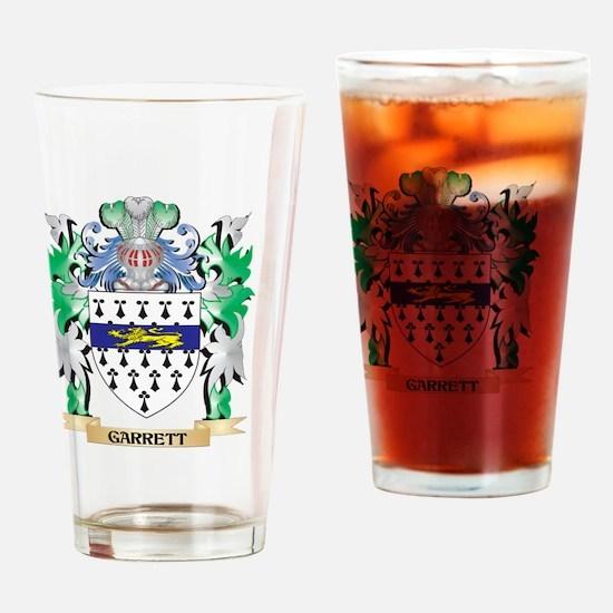 Garrett Coat of Arms (Family Crest) Drinking Glass