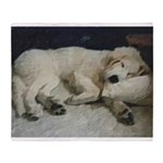 Great Pyrenees Puppy Throw Blanket