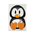Breast Cancer Penguin Rectangle Magnet (10 pack)