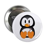 Breast Cancer Penguin Button