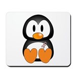 Breast Cancer Penguin Mousepad