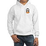 Breast Cancer Penguin Hooded Sweatshirt