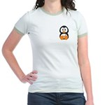 Breast Cancer Penguin Jr. Ringer T-Shirt