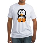 Breast Cancer Penguin Fitted T-Shirt