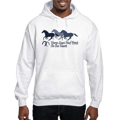 Hoof Prints On Our Hearts Hooded Sweatshirt