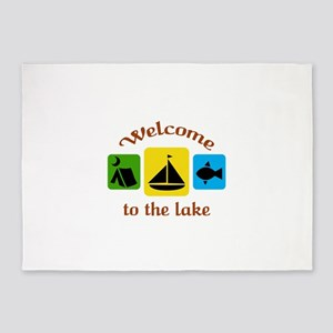 Welcome To The Lake 5'x7'Area Rug