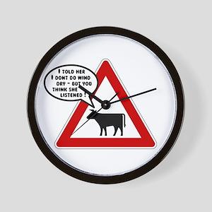 Cows Bad Hair Day Wall Clock