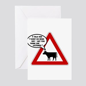 Cows Bad Hair Day Greeting Cards (Pk of 20)