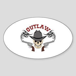 Cowboy Outlaw Sticker