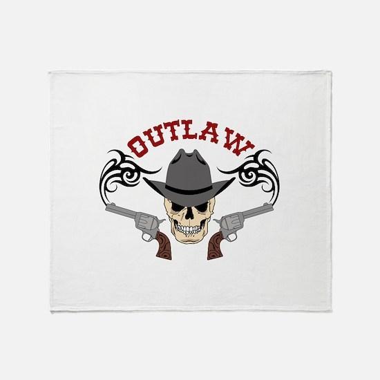 Cowboy Outlaw Throw Blanket