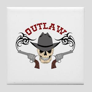 Cowboy Outlaw Tile Coaster