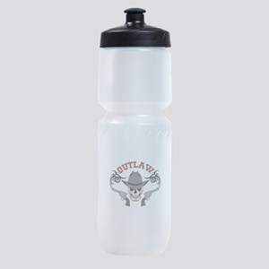 Cowboy Outlaw Sports Bottle
