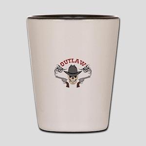 Cowboy Outlaw Shot Glass